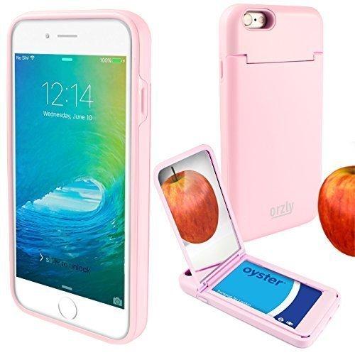 """Orzly® """"On the Move"""" Case - ROSA für das iPhone 6S (2015) & iPhone 6 (2014) – Schalgschuetzende- Doppelschicht Hartcover & -Gehaeuse mit integriertem Gestell, Kreditkarten-Halter & Taschenspiegel ROSA für iPhone 6 & iPhone 6S"""