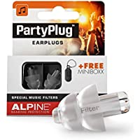 Alpine PartyPlug Ear Plugs - Safely enjoy Parties, Music Festivals and Concerts - Great music quality - Comfortable & hypoallergenic - Reusable earplugs - Transparent