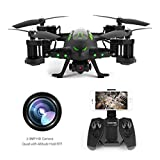 RC Flying Car Drone with HD Camera 2 in 1 Air-Road Double Model RC Toy,FPVRC 2.4GHz 4CH 6-Axis Gyro Remote Control Helicopter&Flying Car
