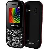 Adcom J2 - Big Battery Dual Sim Phone (1.8 Inch Display, 1500 MAh Battery, Black/Red)