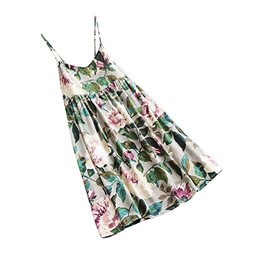 DAYLIN Newest Clearance Women Large Size Lady Daily Floral Print Summer Party Sleeveless Vest Plus Size Beach Mini Dress Hot Sell S~5XL