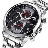 Herren Uhren Chronograph Business Analog Quarz Armband Uhr für Männer