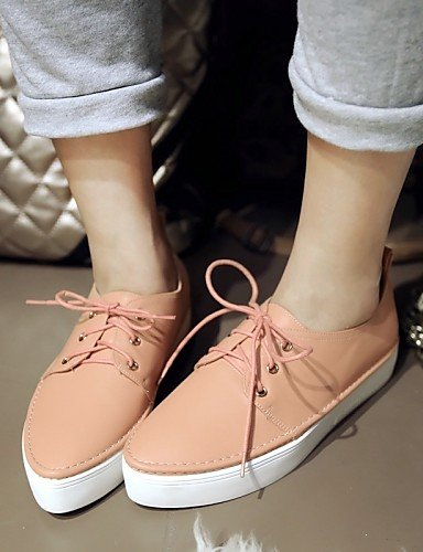 ZQ Scarpe Donna - Stringate - Formale / Casual - Comoda / A punta - Plateau - Finta pelle - Nero / Rosa / Bianco / Argento / Dorato , golden-us10.5 / eu42 / uk8.5 / cn43 , golden-us10.5 / eu42 / uk8.5 black-us5 / eu35 / uk3 / cn34