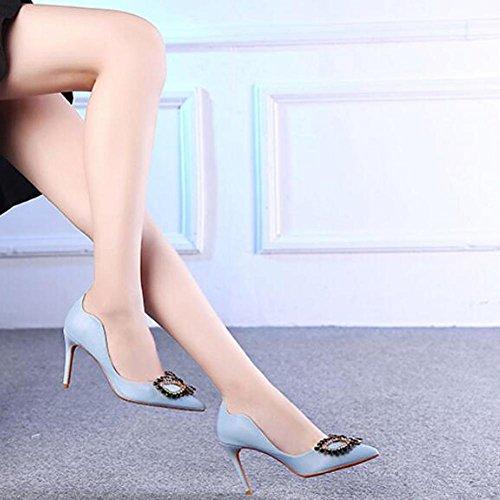Con Dimensioni Donne YC® Discoteca Tacco Tacchi Con Di Dance Ultra Multa Pulsante Grandi Blue Sandali Con Una alti L alto vB5ZqnwZd