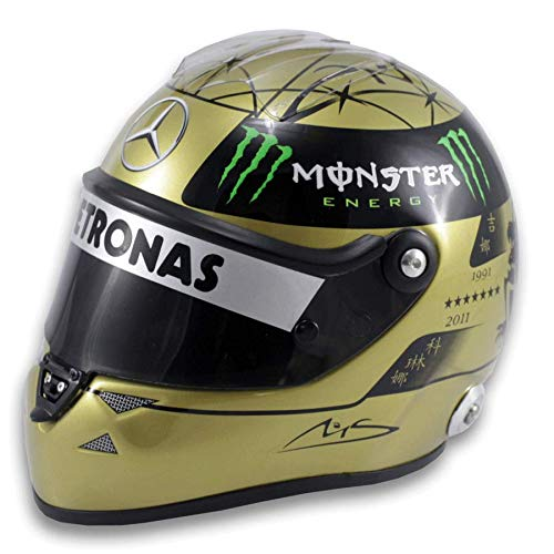 Réplica 1:2 Casco Michael Schumacher 'Mercedes 2011' 20th F1