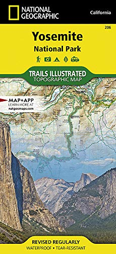 Yosemite National Park: National Geographic Trails Illustrated Californien: NG.NP.206 (National Geographic Trails Illustrated Map, Band 206) -
