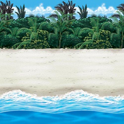 40FT Beach Raum Rolle Scene Setter Tropical Hawaiian Paradise Beach Sandy Hawaiian Luau BBQ Party Dekoration