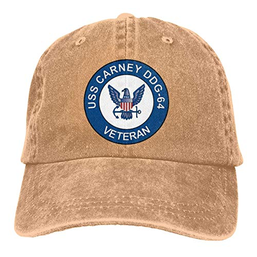 aff25edb647ff vintage cap USS Carney DDG-64 Veteran Summer Cool Heat Shield Unisex Adult  Cowboy Hat