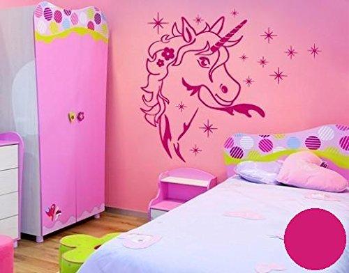 Wandtattoo Zauber Einhorn B x H: 40cm x 45cm Farbe: pink (erhältlich in 35 Farben und 5 Größen)