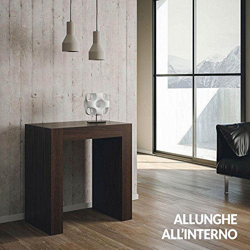 Group design consolle inside allungabile rovere moro in legno per ingresso ry-co/031-bl