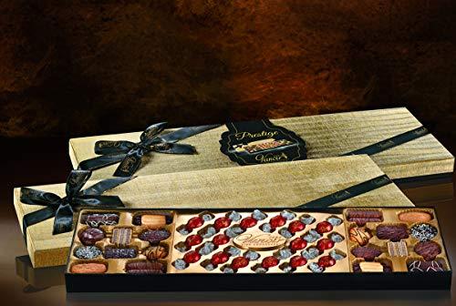 Confezione Prestige - Pralinen verschiedene - Geschenkset Prestige Vanoir 500g - Exklusive Geschenk 4 Packs Prestige mit Schokolade Boules und Gebäck Assortita Vanoir - Golden Collection -