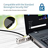 Kensington Combination Ultra Laptop Lock with Serialised Keyless Preset Combination, Strong Lock Head and Cut-Resistant Cable - 1.8m Length (K64675EU)