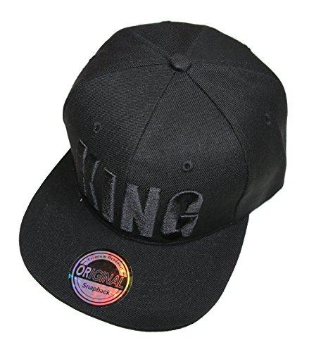 King Queen Snapback Cap Caps Herren Damen (King black)
