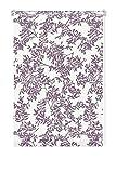 GARDINIA Rollo mit Blatt-Muster zum Klemmen oder Kleben, Tageslicht-Rollo, Blickdicht, Alle Montage-Teile inklusive, EASYFIX Rollo Dekor, Weiß/Violett, 120 x 150 cm (BxH)