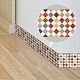 Bordüre Tapeten Wallpaper Borders 10 X 800cm für Wand, Fliesen, Wohnzimmer, Bad, Küche(Geometrische Muster)