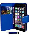 Blue Apple iPod Touch 5 5th Generation Book - Quality Premium Pu Leather Flip Wallet Case Cover Pouch + Screen Protector With Microfibre Polishing Cloth + LCD Screen Stylus Pen