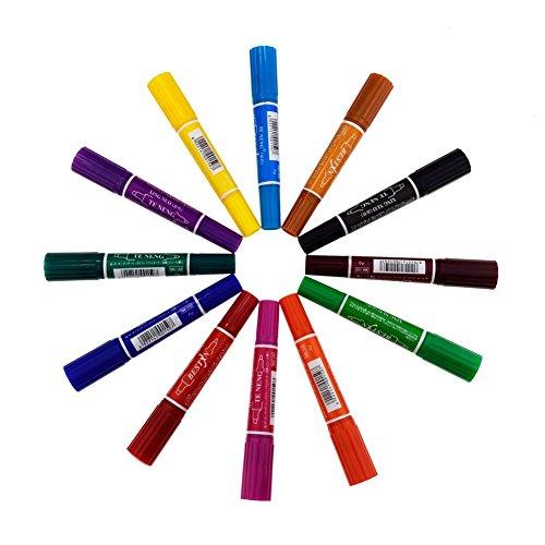 candoratm-12-pieces-different-colors-paint-marker-fine-paint-oil-based-art-pen