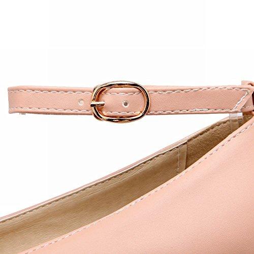 Mee Shoes Damen Plattform Plateau Ankle strap Pumps Pink