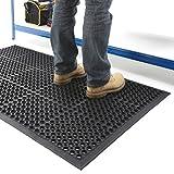 BiGDUG Non-Slip Entrance Mat Indoor Outdoor Anti-Fatigue Workshop Rubber Heavy Duty 1.5 M