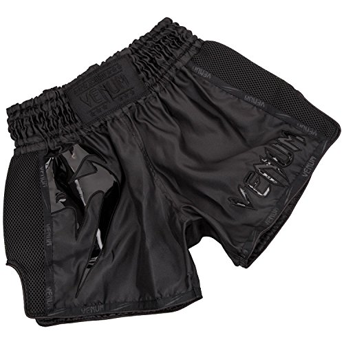 Venum Giant Pantalones Cortos de Muay Thai, Hombre, Negro, M