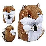 "KOSBON 14 ""lindo hamster de peluche niños hombro mochila (Brown)"