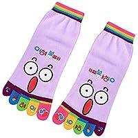 TDPYT 10 Unids/Algodón Cara Sonriente Linda Cinco Dedos Calcetines Dibujos Animados De Algodón Cinco Dedos del Pie Calcetines Calcetines del Barco