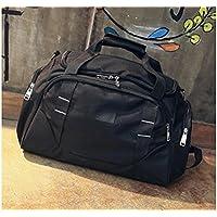 SOPOUITRO Varios Exterior de Gran Capacidad Bolsa de Deporte Bolsa de Deporte con Compartimento para Zapatillas Travel Weekender–Petate (Negro)