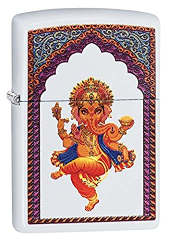 Zippo Ganesha Windproof Lighter - Cream