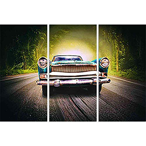 The Magic Road Split Art Painting Panel On Sunboard 41 X 28Inch ()