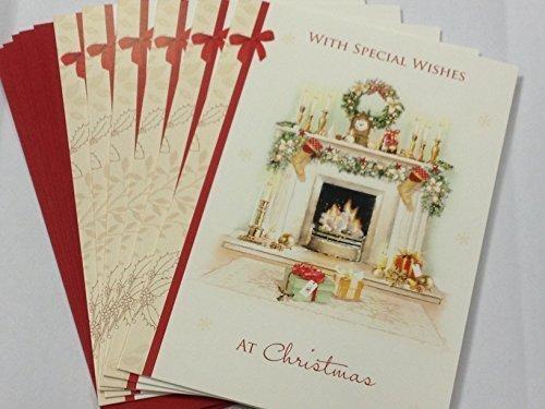 Unbekannt '24Stück Traditionelle Fire & Strümpfe' Design Weihnachten Grußkarten -