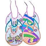 Baby Shopiieee Baby Premium Quality Feeding Bibs / Cotton Bibs - Under 1 Year (Set Of 6 Colors)