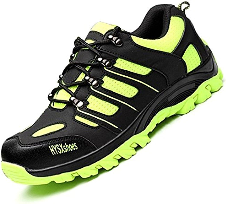 COOU Zapatillas de Seguridad para Hombre Ligeras S3 Fluorescencia Calzado de Trabajo para Comodas