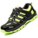 COOU Calzado de Seguridad Puntera de Acero Antideslizante Comodas s3 Zapatos Seguridad para Hombre Mujer