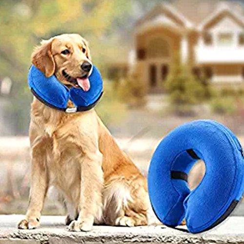 YiFeiCT Collar de natación para Mascotas de Seguridad antiácaros Hinchable para el...