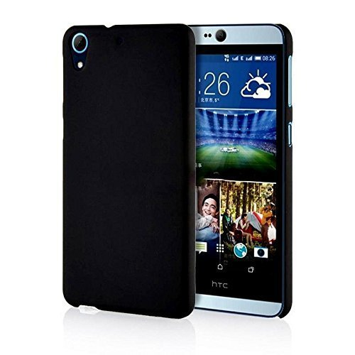 WOW Imagine(TM) Rubberised Matte Hard Case Back Cover For HTC DESIRE 626 / 626G PLUS (Pitch Black)