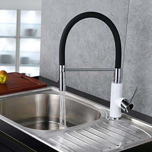 Preisvergleich Produktbild Homelody 360° Drebar Küchenarmatur schwarz Armtur Küche Wasserhahn mit Zwei Funktion Brause Mischbatterie Spültischbatterie Spültischarmatur