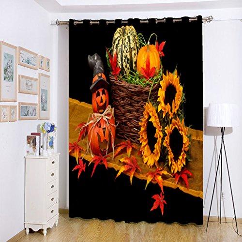 ang Halloween-Thema Muster Gardine für Haus-Hotel-Café Wand-Dekor Anti-Schimmel 1.5x2m ()