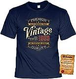 T-Shirt 60 Geburtstag - Geburtstagsshirt Sprüche Jahrgang 1959 : Vintage garantiert echt seit 1959 - Geschenk-Shirt zum 60.Geburtstag Frau/Mann + lustige Urkunde Gr: L