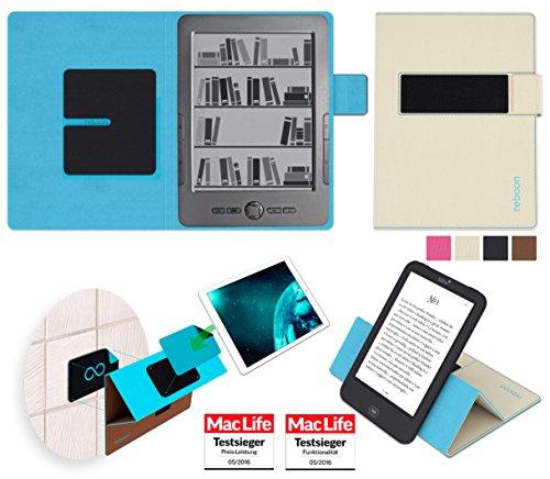 reboon Hülle für Blaupunkt Livro Tasche Cover Case Bumper | in Beige | Testsieger