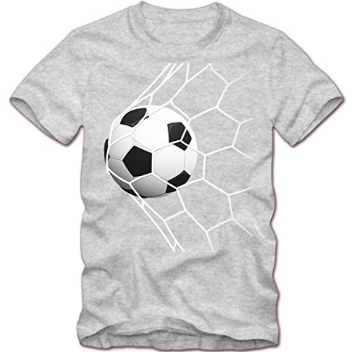 Fußball #2 T-Shirt |Fußball EM 2016 | Soccer | Elfmeter |Tor | Sportshirt | Herrenshirt © Shirt Happenz Graumeliert (Grey Melange L190)