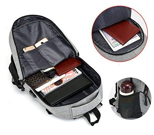 Best supreme backpack in India 2020 Elegance Canvas Material School Backpack & Laptop Backpack with USB Charging Port Image 3