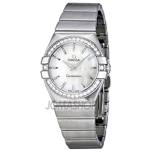 Omega Omega Constelación Blanco Madre de Perla Dial Acero inoxidable Acero Damas Reloj 123.15.27.60.05.001