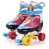 meteor® Retro Rollschuhe: Disco Roller Skate wie in den 80er Jahren, Jugend Rollschuhe, Kinder Quad Skate, Farbvarianten - Lula