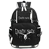 Yoyoshome, zaino per la scuola con disegno anime, fosforescente di notte nero Death Note