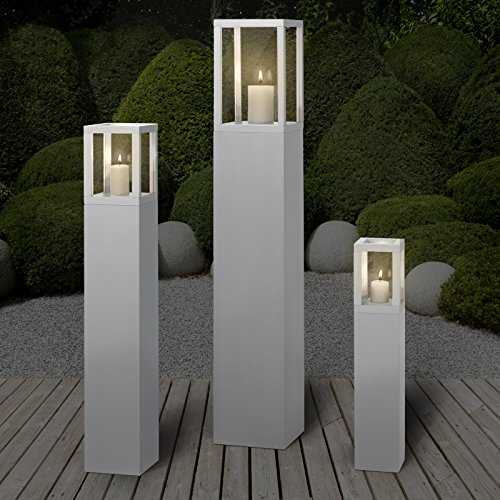 Miadomodo set lanterne lampade porta candele da esterno - Lanterne esterno ...