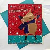 Step–Brother Colourful cute cartolina di Natale