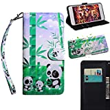 BONROY Samsung Galaxy S7 Case, Wallet Case Soft PU Leather Notebook Design Case with Kickstand Function Card Holder and ID Slot Slim Flip Protective Cover-(TX-Panda)
