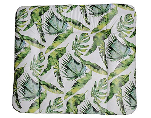 Rotho Babydesign Wickelauflage Tropical Leaf, Ab 0 Monaten, Limited Edition, Grün, 72 x 85 x 5 cm, 200620001CS
