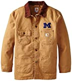 Carhartt NCAA Michigan Wolverines Boy 's Verwitterte pflanzengießen Coat, Jungen, Brown, X-Large