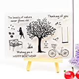 Clear Stamp Scrapbook DIY Foto Karten Gummi Stempel Siegel Stempel Happy Birthday Baum transparent Silikon Transparent Stempel